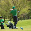 Concord's Andrew Bondurant looks on after teeing off during Saturday's Concord Invitational at Bent Oak Golf Club in Elkhart.