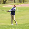 Fairfield's Carter Kitson watches his shot head toward the green during Saturday's Concord Invitational at Bent Oak Golf Club in Elkhart.