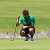 Concord's Will Harris prepares for a putt during Saturday's NLC Championship Invitational at Bent Oak Golf Club in Elkhart.