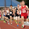 Goshen Drew Hogan (822) wins the 1600 meter run during Thursday's sectional at Goshen High School in Goshen.