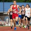Goshen Cole Johnston (823) runs during Thursday's sectional at Goshen High School in Goshen.