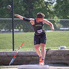 Northridge senior Carter Bach competes in the shot put event at the IHSAA state boys track and field finals Friday at Ben Davis High School in Indianapolis.