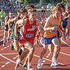 Goshen junior Drew Hogan (315) starts the 1,600-meter run at the IHSAA state boys track and field finals Friday at Ben Davis High School in Indianapolis. Hogan finished the race in ninth place, earning all-state honors.
