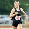 Northridge's Hannah Hoffman (209) wins the 200 meter dash finals during Tuesday's regional at Goshen High School.