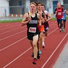 NorthWood's Owen Allen leads the way during the Class B distance medley relay at Saturday's Goshen Relays in Goshen.