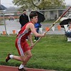 Goshen's Eli Hochstedler takes off during the pole vault event at the Goshen Relays Saturday. Hochstedler finished tied for second in the event.