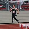 Northridge's Zack Howey outruns the pack during the Class A 4x100-meter relay at the Goshen Relays on Saturday in Goshen.