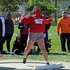 Goshen's Sasha Ramos throws the shot put during the Goshen Girls Relays Saturday in Goshen.