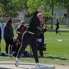 Concord's Makenna Coleman hurls the shot put during the Goshen Girls Relays Saturday in Goshen.