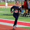 Fairfield's Kaitlyn Kuhn heads toward the finish line of the sprint medley relay during the Goshen Girls Relays Saturday in Goshen.