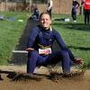 Fairfield's Lauren Wuthrich sticks the landing in the long jump during the Goshen Girls Relays Saturday in Goshen.