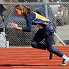 Fairfield's Nicole Haldeman gets a good start in the 4x200-meter relay race at the Goshen Girls Relays Saturday in Goshen.