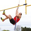 Westview's Aiden Koehler competes in the pole vault event during Tuesday's meet against Fairfield at Westview High School in Topeka.