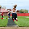Fairfield's Maddy Yoder competes in the long jump event during Tuesday's meet against Westview at Westview High School in Topeka.