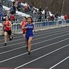 Members of the Goshen and Elkhart girls track team come down the stretch of the 100-meter dash Tuesday at Elkhart High School. It was the first outdoor track meet for either school since 2019 after the COVID-19 pandemic canceled the 2020 spring sports season.