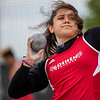 JAY YOUNG | THE GOSHEN NEWS<br /> Goshen High's Kassandra Rodriguez makes a throw while competing in the shot put event during the Norther Lakes Conference Championship track meet Tuesday evening in Warsaw.