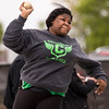 JAY YOUNG | THE GOSHEN NEWS<br /> Concord's ZaCarra Marsh competes in the shot put event during the Norther Lakes Conference Championship track meet Tuesday evening in Warsaw.