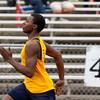 SAM HOUSEHOLDER | THE GOSHEN NEWS<br /> Fairfield freshman Carl Yotter runs a 100 meter dash heat during the meet against Lakeland Thursday.