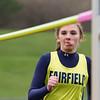 SAM HOUSEHOLDER | THE GOSHEN NEWS<br /> Fairfield sophomore Cierra Lau runs up during the high jump at the track meet against Lakeland Thursday.
