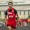 SAM HOUSEHOLDER | THE GOSHEN NEWS<br /> Goshen senior Carlos Duarte-Contreras runs the 100 meter dash Tuesday at the NLC Championship at Warsaw High School.