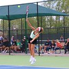 Concord's No. 1 doubles player Gracie Westlake serves during Wednesday's Sectional 47 semifinals at Northridge High School.