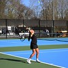 NorthWood's Britton Jesse serves the ball during her victory at No. 2 singles over Concord Friday in Elkhart.