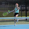 Concord's Maddie Copsey gets ready to return the ball during her win at No. 3 singles over NorthWood Friday in Elkhart.