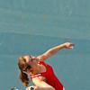 SAM HOUSEHOLDER | THE GOSHEN NEWS<br /> Goshen No. 3 singles player Liz Erickson serves the ball during the match against NorthWood Tuesday.