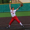 Goshen's Liz Ramirez winds up from the circle during Monday's Class 4A Sectional 4 opener against Warsaw at Northridge High School.