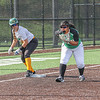 Northridge senior Jenifer Robinson and Concord junior Kailee Beachy await a pitch during Wednesday evening's sectional game in Middlebury.