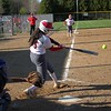 Goshen junior Liz Ramirez connects on a 2-RBI single in the third inning of the RedHawks' 13-3 victory over Bethany Christian Tuesday at Shanklin Park in Goshen.