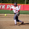Goshen sophomore Kareena Ulfig throws a pitch in the third inning of Tuesday's game against Bethany Christian in Goshen.