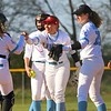 Lakeland celebrates after getting an out early in Thursday's game against Fairfield at Lakeland High School in LaGrange.