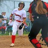 Westview's Alexys Antal heads for home during Monday's NECC Tournament final at Westview High School in Topeka.