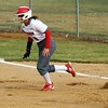 Goshen junior Olivia Koshmider steals second base in the first inning of the RedHawks' 19-1 win over South Bend Riley Wednesday in Goshen.