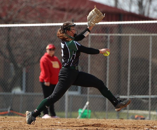 Wawase pitcher Olivia Stuck throws a pitch during the game against Westview Saturday in Topeka.