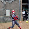 GREG KEIM | THE GOSHEN NEWS<br /> Junior Caitlyn Doyle of the Goshen RedHawks swings at a pitch in a high school softball game Wednesday at Concord.