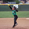 GREG KEIM | THE GOSHEN NEWS<br /> Senior Kiley Austin fires a pitch for Concord in a high school softball game with the Goshen RedHawks Wednesday at Concord. Austin was the winning pitcher in a 9-1 decision.