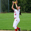 STEPHEN BROOKS | THE GOSHEN NEWS<br /> Goshen senior shortstop Emily Castillo catches an infield pop-up during Friday's game against Concord at Shanklin Park. Goshen won 4-3.