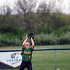 GREG KEIM | THE GOSHEN NEWS<br /> Senior Kylee Lantz, No. 2 of the Northridge Raiders, waits to catch a pop fly n an NLC high school girls softball game against the Goshen RedHawks Thursday in Middlebury.