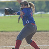 HALEY WARD | THE GOSHEN NEWS<br /> West Noble junior Ashley Strombeck pitches in the sectional game against Wawasee on Monday at Fairfield High School.