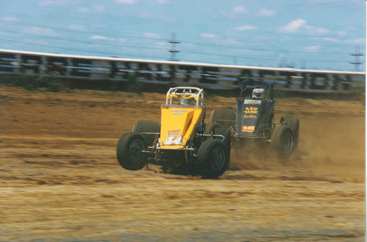 Turn 4 at the Terre Haute Action Track in the late 80's