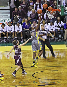 #10, Destiny Williams with a nice lay-up shot against A&M, 2-11-2012