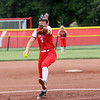 St. Anthony's Lucy Fearday delivers a pitch in the Class 1A Sectional Semifinals against Hutsonville on Tuesday, July 8, 2021, at St. Anthony High School, in Effingham, Illinois. (Alex Wallner/Effingham Daily News)