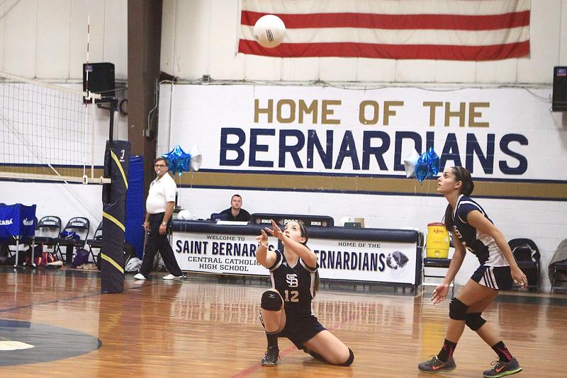 St B's Abigail Browchuk sets up Sarah Achi