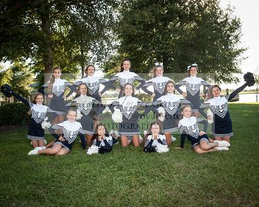 Blue jay cheerleaders
