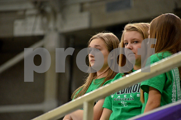 -Messenger photo by Britt Kudla<br /> St. Edmond fans reaction during Iowa City Regnia victory over the gaels on Friday