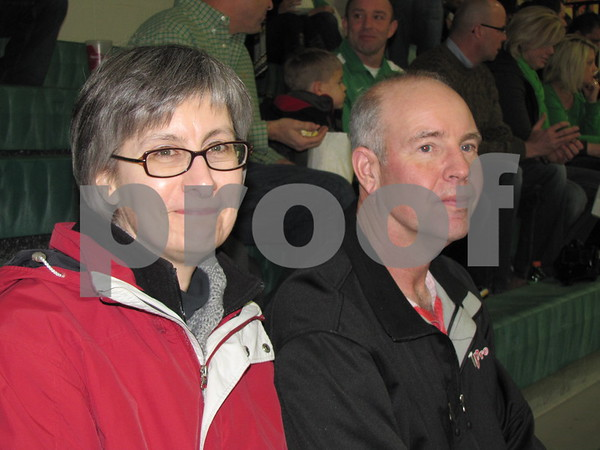 Lori and Jeff Loehr attended the JV girls BB game at St. Edmonds.