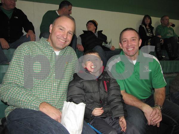 Tim Krayenbrink, Jaden, and Rick McCarville attended the JV girls BB game at St. Edmonds.