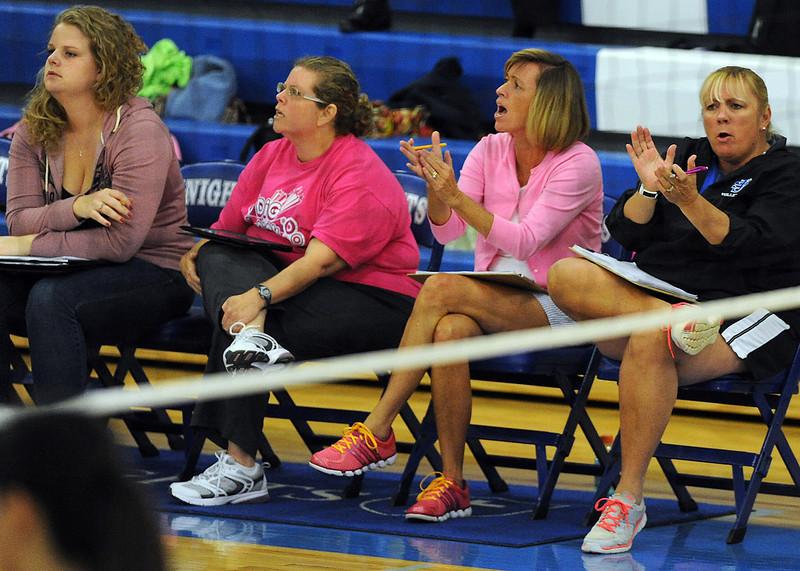 St. Joseph's celebrates Volleyball Senior Night.<br /> GWINN DAVIS PHOTOS<br /> gwinndavisphotos.com (website)<br /> (864) 915-0411 (cell)<br /> gwinndavis@gmail.com  (e-mail) <br /> Gwinn Davis (FaceBook)
